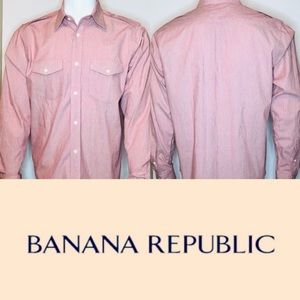 Banana Republic Button Down Shirt Holiday Red NWOT